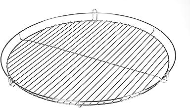 HeRo24 Chrom Grillrost Grill Rost Grillgitter rund, zum Aufhängen, Dreibein, Schwenkgrill 50 cm