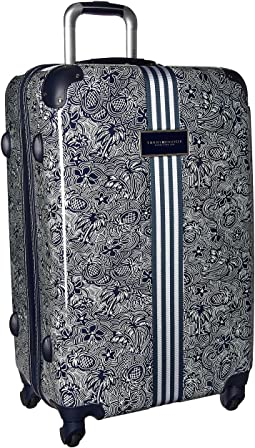 "TH-683 Pineapple Palm 25"" Upright Suitcase"