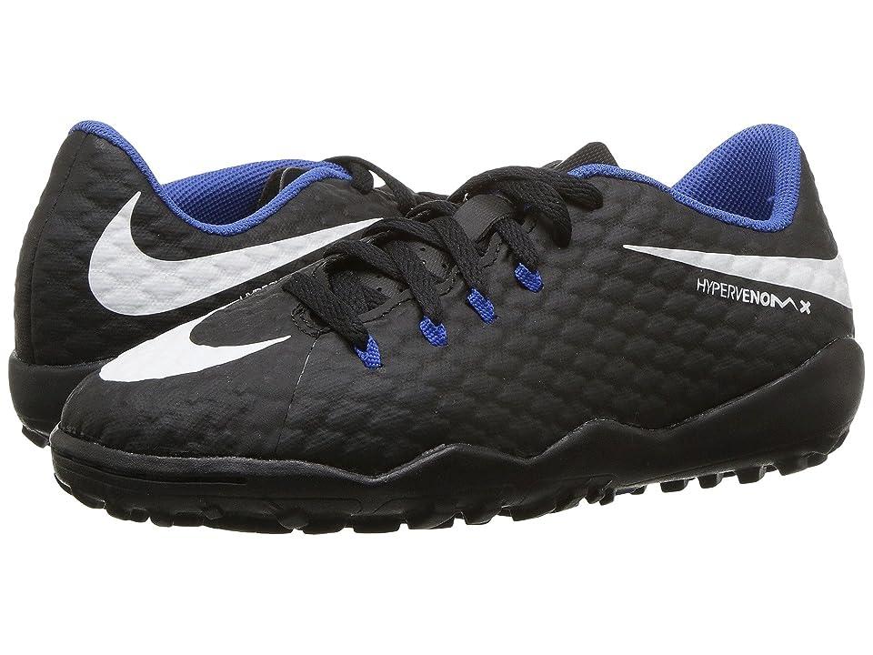 Nike Kids Hypervenom Phinish II AF Soccer (Little Kid/Big Kid) (Black/White/Dark Grey) Kids Shoes