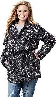 Plus Size Women's Plus Size Fleece-Lined Taslon Anorak