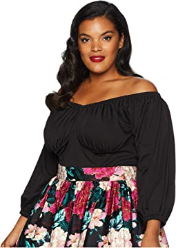 Plus Size Micheline Pitt For Unique Vintage Off Shoulder Top