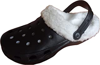 cloggis Fur Lined Clogs Mens Ladies Winter Hospital Furry Mule Style Shoes Lightweight Slippers Slip On Flats