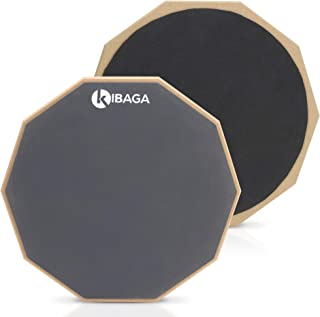 Double Sided Drum Pad 12 inches - Silent Drum Practice...