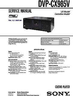 SONY DVPCX985V Service Manual