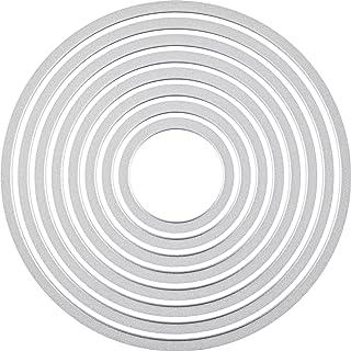 Sizzix 18657551 Big Shot Cercles Framelits Set de 8 Matrices de Découpe pour Machine Plastique Multicolore 16 x 1 x 25 cm