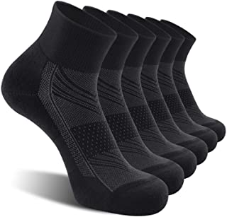 CS CELERSPORT CelerSport 6 Pack Men's Ankle Socks with Cushion, Sport Athletic Running Socks