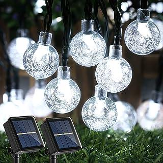 Joomer 2 Pack Solar Christmas Lights, 20ft 30 LED Globe Solar String Lights,Waterproof 8 Modes Crystal Ball Fairy String L...