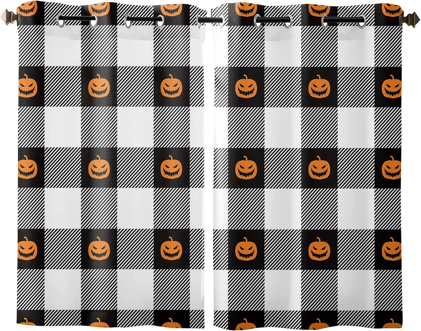 Sale Special Price Courier shipping free Window Curtains Halloween Smiley Spooky Pumpkin Filtering Light