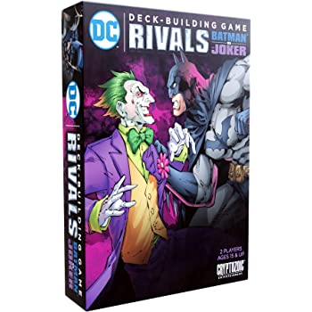 DC Deck-Building Game: Rivals — Batman vs. The Joker - Exciting 1v1 Format - Six Oversized Cards for Batman and The Joker - Standalone, Compatible with Full DC Deck-Building Game Series