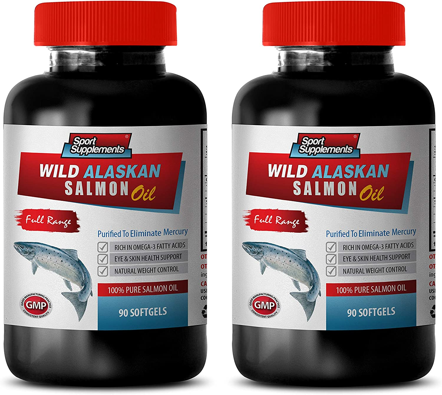 Immune System Booster Super beauty product restock quality Popular brand top - Wild Alaskan Fish Oil 100% Pure Salmon