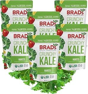 Brad's Plant Based Organic Crunchy Kale, Naked, 6 Count