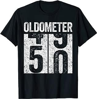 Oldometer 50 T-Shirt 50th Birthday Gift Shirt