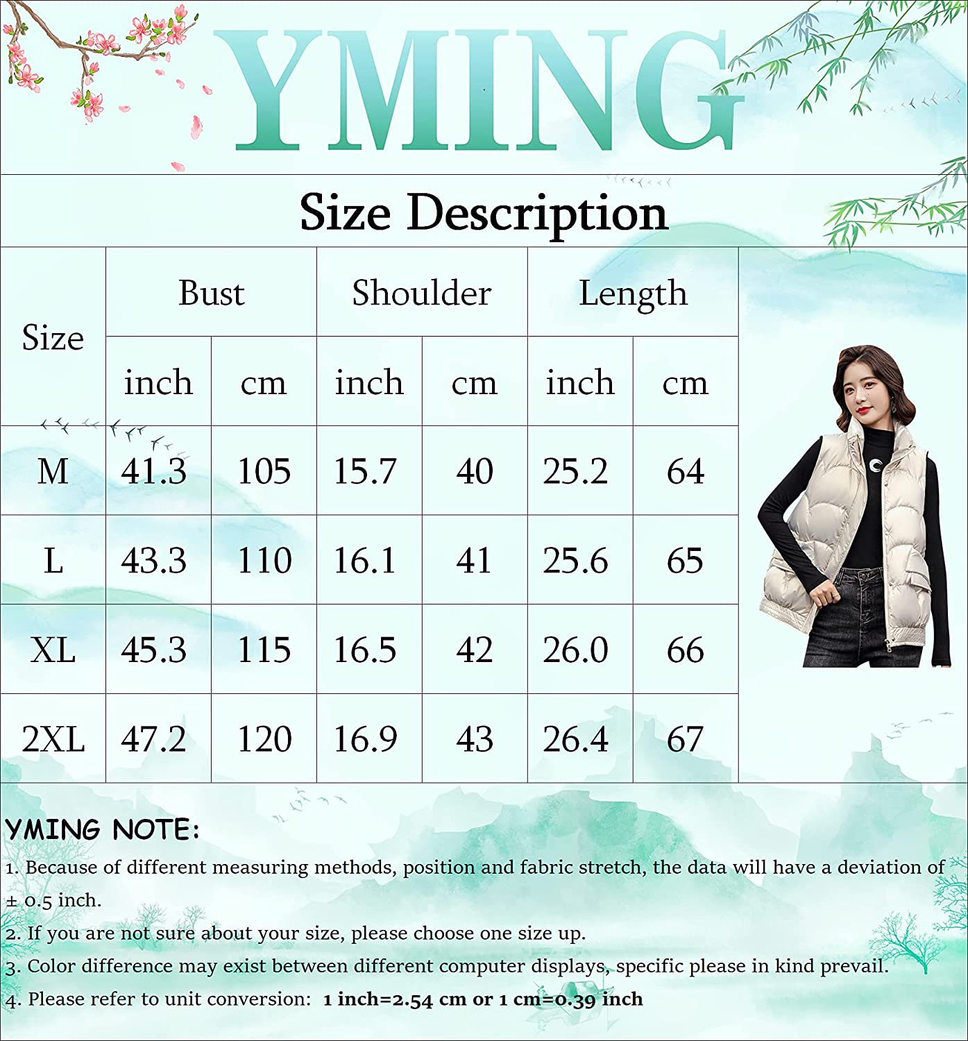 YMING Womens Metallic Solid Color Puffer Vest Winter Casual Quilted Outwear Oversized Zipper Lightweight Gilet with Pockets