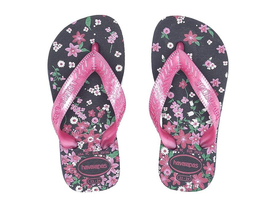 a490cbc6d2e4ec Havaianas Kids Flores Sandals (Toddler Little Kid Big Kid) (Navy