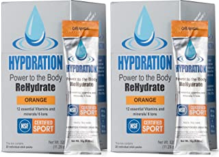 Hypdration, Hydration Powder Packets, Hydration Multiplier, Electrolyte Powder, NSF Certified for Sport, 40 Count Mix in 1...