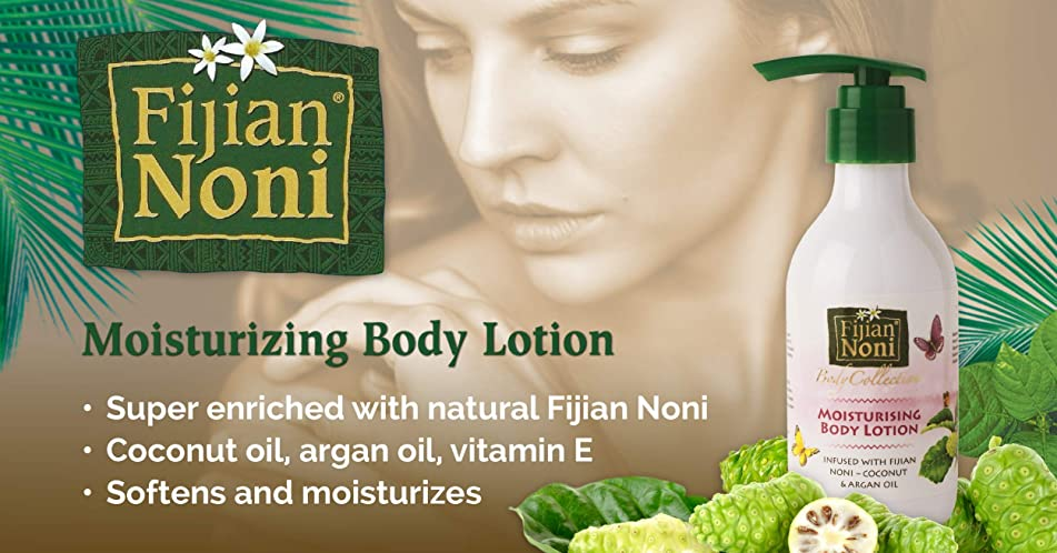 Fijian Noni Lotion - Infused with Fijian Noni, Coconut & Argan Oil (8.7 Fl.Oz) Gift of Nature.
