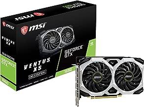 MSI Gaming GeForce GTX 1660 128-Bit HDMI/DP 6GB GDRR5 HDCP Support DirectX 12 Dual Fan VR Ready OC Graphics Card (GTX 1660 Ventus XS 6G OC)