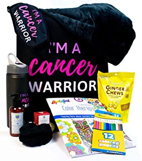 Blue Iris Chemo Care Package for Women-I'm a Cancer Warrior Matching Gift Set- Includes Cancer Gifts for Women for Comfort...