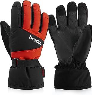 Arcweg Kids Boys Girls Ski Gloves Winter Waterproof Fleece Gloves Snowproof Snow Ski Gloves Insulated Thermal Warm Mittens...