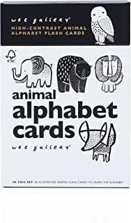 Wee Gallery, Animal Alphabet Cards, Learning, Flash Cards