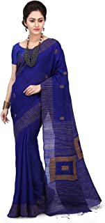 WoodenTant Women's Cotton Silk Saree With Un-stitched Blouse