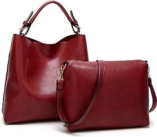 Handbags for Women PU Leather Hobo Shoulder bag Bucket Purse Satchel