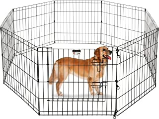 Pet Trex 24 Inch Playpen for Dogs 8 24 x 24-inches High Panels (Black)