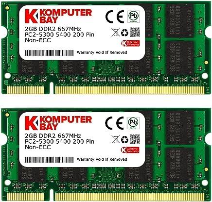 Komputerbay 4GB 2X 2GB DDR2 667MHz PC2-5300 PC2-5400 DDR2 667 (200 PIN) SODIMM Laptop Memory - Confronta prezzi