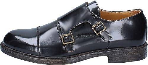 SALVO BARONE Elegante Schuhe Herren Glänzendem Leder schwarz