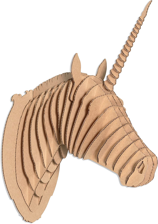 High quality new Max 89% OFF Cardboard Safari Merlin Unicorn Large Brown Head