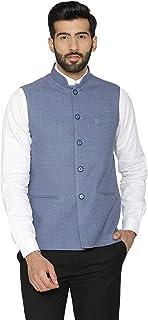 WINTAGE Men`s Tweed Wool Festive and Casual Nehru Jacket Vest Waistcoat : Multiple Colors