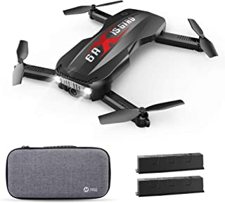 Holy Stone Foldable Drone with FPV Camera 1080p HD for Kids and Adults – HS160 Pro RC Quadcopter with Optical Flow Positioning Altitude Hold App Control Headless Mode, 2 Batteries and Carrying Case