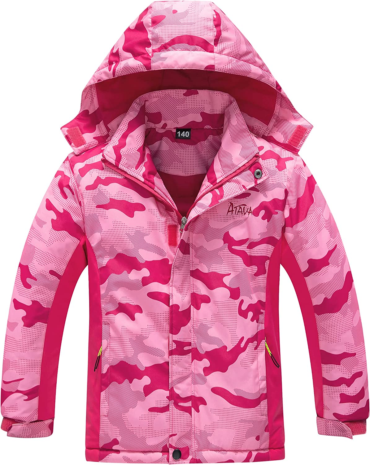 Hiheart Boys Girls Hooded Thick Padded Jacket Windproof Coat