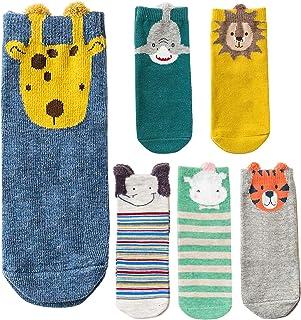 makkis 3/6 par skarpet dziecięcych ze wzorem zwierzęcym, bawełna czesankowa; skarpety dla dzieci; skarpety dziewczęce 23-2...