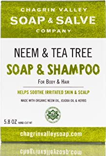 Chagrin Valley Soap & Salve - Organic Natural Shampoo & Soap Bar - Neem & Tee Trea