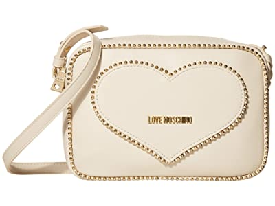 LOVE Moschino Embroidery Of Love Shoulder Bag (Ivory) Handbags