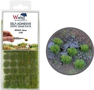 War World Scenics 10 mm vår självhäftande statisk gräsklippare x 100 – modellbana modellbyggnad bordsskiva mark Diorama