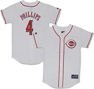 Outerstuff Brandon Phillips Cincinnati Reds White Youth Authentic Home Jersey