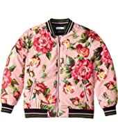 Dolce & Gabbana Kids - City Rose Print Bomber Jacket (Toddler/Little Kids)