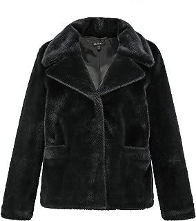 ULLA POPKEN Jacke Fake Fur Giacca in Finta Pelliccia. Donna