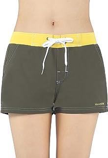 1115202837 Meegsking Women Quick Dry Swimwear Trunks Sports Board Shorts with Soft  Briefs Inner Lining