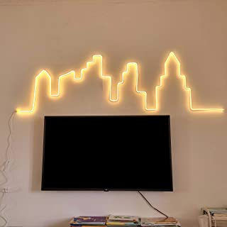 6mm Neon Signs No Acrylic Dimmable Memory Shapeable LED Neon Lights DC12V 5M(16.4FT) with 2M(6.56ft) Cable Decorative Neon...