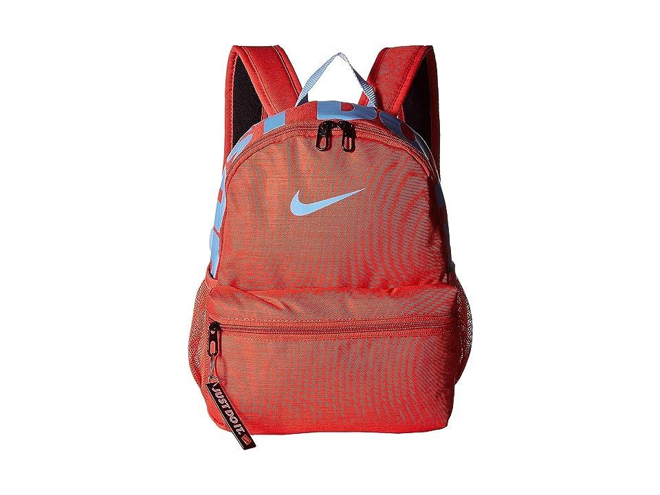 Nike Kids Brasilia JDI Mini Backpack (Little Kids/Big Kids) (Ember Glow/Aluminum/Aluminum) Backpack Bags