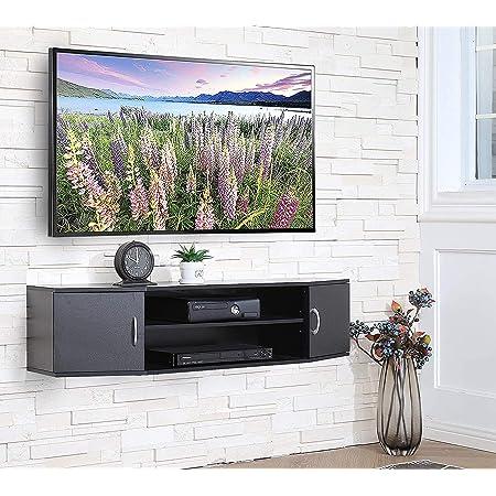 FITUEYES Mueble TV Gabinete de Salon con 2 Puertas Estanteria Suspendido para Dormitorios/Salas de Estar/Oficina DS311001WB