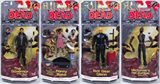 2013 The Walking Dead Comic Book Series 2 (Set of Four) The Governor & The Governor's Zombie Daughter Penny Blake - Glenn & Mike Action Figures Hot Hot!!!