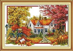 cross stitch house design