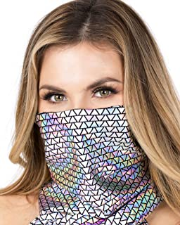 Silver Holographic Pyramid Rave Dust Mask