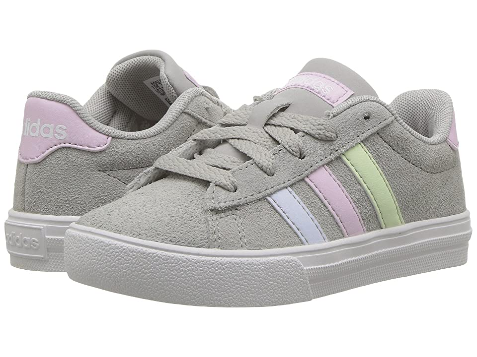 adidas Kids Daily 2.0 (Little Kid/Big Kid) (Grey 2/Aero Pink/Aero Blue) Kids Shoes