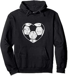 Soccer Ball Heart Mom Fan Parent Pullover Hoodie
