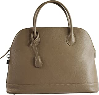 Chicca Tutto Moda CTM Borsa elegante a mano da donna in morbida pelle made in Italy 40x30x15 Cm